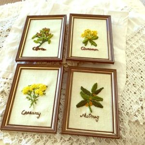 Vintage Hand Made Embroidered Spices Pictures